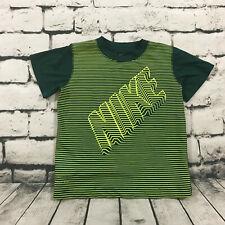 Nike Boy's Shirt Dri-Fit Tech Material Short Sleeve Spellout Green Neon Size 6