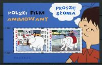 Poland 2018 MNH Animated Film Prose Slonia 2v M/S Cartoons Elephants Stamps