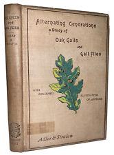 1894, 1st, ALTERNATING GENERATIONS, STUDY OF OAK GALLS & GALL FLIES, ADLER, TREE