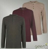 Mens Gelert Crew Neck Long Sleeve Thermal Henley Jumper Sizes from S to XXXL