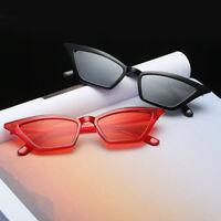 VINTAGE CAT EYE SUNGLASSES RETRO SMALL FRAME FASHION SHADES WOMEN UV400 GLASSES