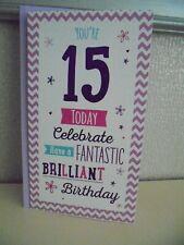 Estás 15 hoy celebrar tienen un fantástico brillante 15th Tarjeta de Cumpleaños Quince
