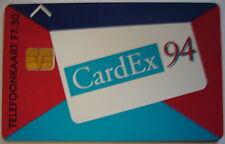 RARE CARTE a PUCE SALON  CARDEX ( AMSTERDAM 8/11 septembre 1994 ) CARTE N°12