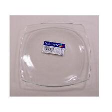 Luminarc Quadrato Clear Glass 4 Salad Plates Square, Arc Glass dinnerware France