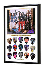 Black Sabbath Limited to 100 Framed Gold 15 Picks Guitar Pick Display