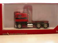 Herpa Promotex Peterbilt Cabover Tractor Red black stripes 1/87