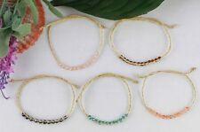 15PCS Mixed colours Beads braided raffia wish bracelets #21632