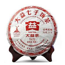 357g china Yunnan Menghai Dayi 7572 Cooked Chi Tse Pu Erh Tea Cake,puer RIPE tee