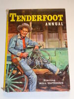 TENDERFOOT 1959 BRITISH ANNUAL WORLD DISTRIBUTORS HARDBACK<