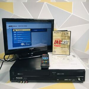 Panasonic DMR-EZ49V Black DVD & VHS Recorder Combo with Remote Freeview - HDMI