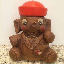 Vintage California Original I Love You Elephant Sailor Ceramic Cookie Jar