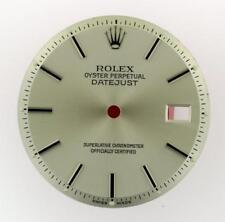 Vintage Men's Rolex Datejust NQ 1600 1601 1603 Silver Stick Dial S/S #E32