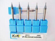 1pcs R0.25mm CNC Tungsten Steel ball nose end mill HRC60 2 Flute Engraving Bit