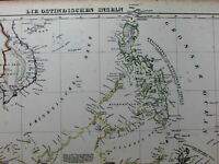 East Asia Anam Vietnam Philippines Java Indonesia Siam 1844 Flemming old map