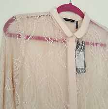 NWT Women's Guess by Marciano Lace Top / Blouse - Size Small