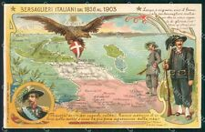 Militari Bersaglieri Italiani dal 1836 al 1903 cartolina XF1274