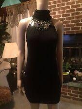 Josh Brody  Black Mini Bodycon Evening Dress Size LargeBlack