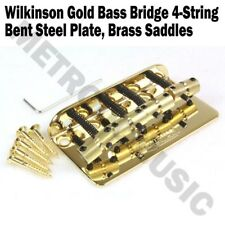 Wilkinson Gold Bass Bridge Brass Saddles Steel Plate 4String Precision Jazz WBBC