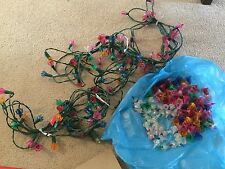 VINTAGE CHRISTMAS LIGHTS FLORAL STARBURST 3 SETS AND REPLACEMENTS