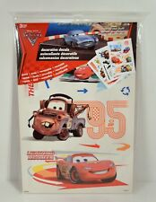 (3 sheets) Disney Pixar Cars 2 Bedroom Wall Decals Stickers Lightning McQueen