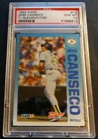 1992 JOSE CANSECO FLEER 7-ELEVEN CITGO #13 PSA 10 ATHLETICS POP 10 (702)