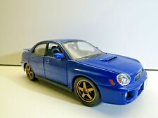 Maisto 1:24 Scale Diecast Subaru Impreza WRX - Blue with Black Interior