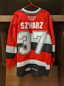 GAME WORN Jordan Szwarz Belleville Senators RED Jersey - Size 56
