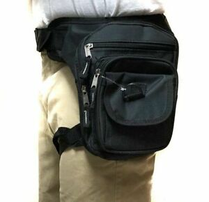 Waist Drop Leg Thigh Bag Outdoor Hip Belt Fanny Utility Pack Pouch Black Holster