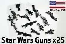LEGO Star Wars Guns Lot of 25 Blasters Clone Storm Trooper Blasters Weapons Pack