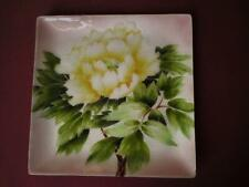 More details for mid 20th century japanese ando cloisonne enamel on copper tray pink silver green