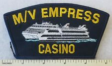 M/V EMPRESS CASINO -  CAP HAT PATCH ILLINOIS RIVERBOAT GAMBLING Vintage OBSOLETE