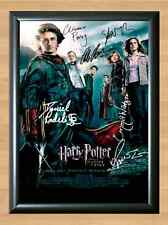 Goblet Of Fire Full Cast Harry Potter Signed Autographed A4 Poster Print Photo