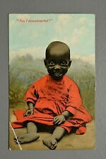 R&L Postcard: Am I Downhearted, Ethnic Black Baby Child Smiling