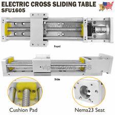 Cross Slide Linear Rail Module Sliding Table SFU1605 Ballscrew Motion Stage,USA