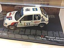 Peugeot 205 Rallye Gr. A Isla ELBA ITALIE 1985 #27 Riva IXO ALTAYA SP 1:43