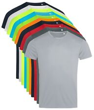 ACTIVE-DRY Plain Breathable Smooth Polyester Body Fit Sports Tee T-Shirt Tshirt