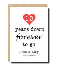 custom personalised Anniversary card 1st 2nd 3rd 4th 5th 10th 20th husband wife