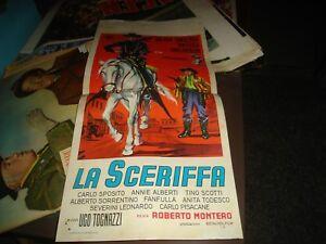 LA SCERIFFA locandina originale 1959 TINA PICA UGO TOGNAZZI