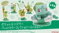 """Pokemon Mini Figure Set """"Palette Color Collection Green"""" Japan"""