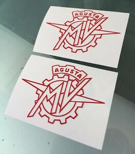 Stickers / Decals for MV Agusta (Outline) (Any Colour*) (100mm x 70mm)