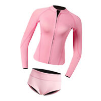 Women Protection Two Piece Swimsuit Wetsuit Top Shorts Brief Set Swimming