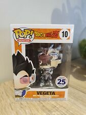Vegeta 10 Silver Chrome Funimation Exclusive Funko Pop Vinyl Dragon Ball Z
