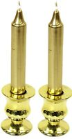 Set Of 2 Small Gold Candle Holders Candlesticks