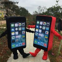 New Mobile Phone/Iphone Mascot Costume Suits Cosplay Party Game Dress Outfits