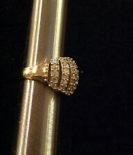 14K Gold Cz 5 1/2 Women's Cocktail Ring