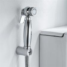 Chrome Handheld 3pcs Set Toilet Brass Hand Held Bidet Spray Shower Head Bathroom