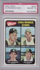 1965 Topps #526 JIM CATFISH HUNTER (RC) (HOF) PSA 8 NM/MT KC Oakland A'S - ODOM