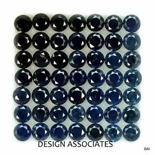 BLUE SAPPHIRE 1.5 MM ROUND ROYAL BLUE COLOR AAA 50 PC SET