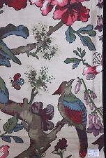"Rare French Art Deco Era Linen Bird & Floral Home Dec Linen c1932-1936~26""LX30""W"