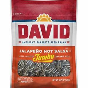 David Jumbo Sunflower Seeds Jalapeno Hot Salsa Flavor, 5.25 oz